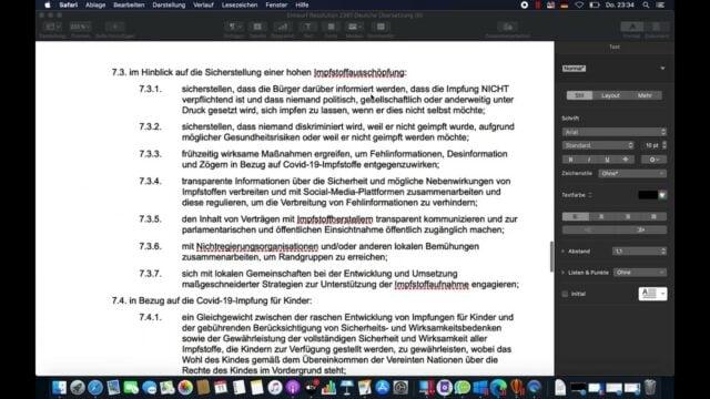 Res. 2361 verbietet Sanktionen gegen Impf-verweigerer; Bild: Startbild Youtube