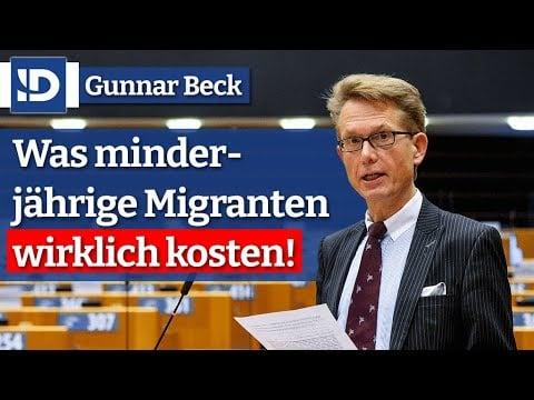G. Beck | Was minderjährige Migranten wirklich kosten!; Bild: Startbild Youtube