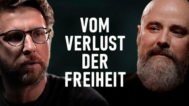 Vom Verlust der Freiheit - Raymond Unger (r.) im Gespräch mit Gunnar Kaiser (l.); Bild: Startbild Youtube