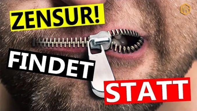 🔴 Noch mehr Zensur? Wer wird bald gelöscht?; Bild: Startbild Youtube