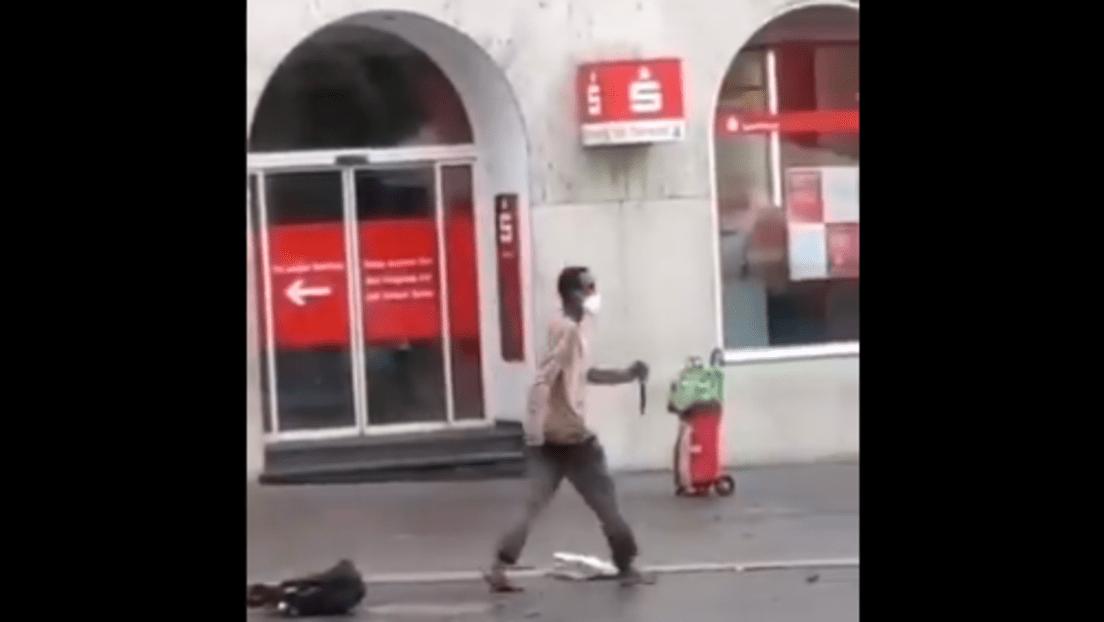 Messerstecher tötet in Würzburg; Bild: © Twitter Disclose.tv