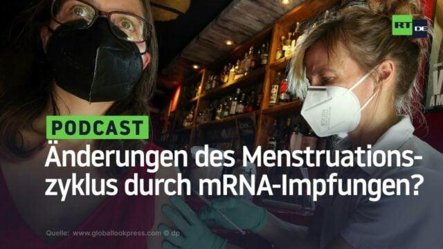 Hinweise auf massive Veränderungen des weiblichen Menstruationszyklus durch mRNA-Impfungen; Bild: Startbild Youtube