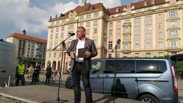 Live-Stream aus Dresden von der Querdenken Demo