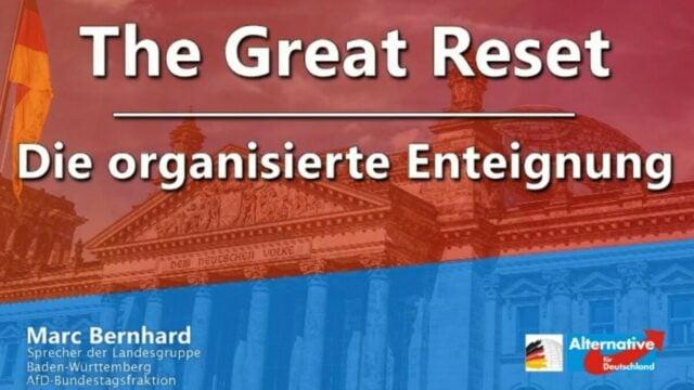 The Great Reset - Die organisierte Enteignung | Marc Bernhard; Bild: Startbild Youtube