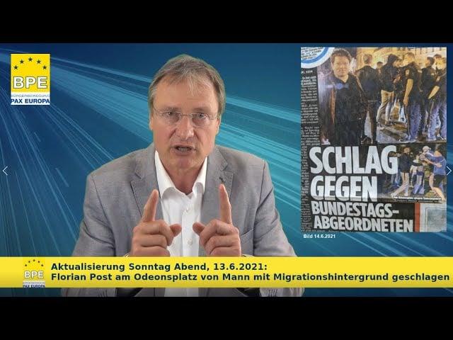 Michael Stürzenberger von der Bürgerbewegung Pax Europa; Bild: Startbild Youtube