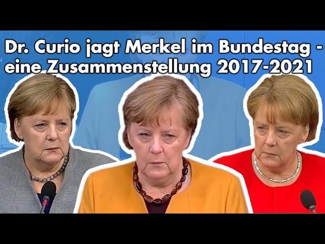 Sämtliche Fragen von Dr. Curio an Merkel; Bild: Startbild Youtube