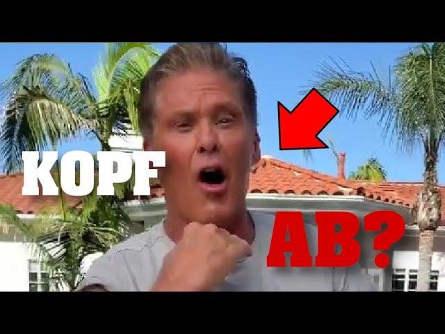Ungeheuerlich! Impfkampagne - David Hasselhoff mit Todes-Geste?; Bild: Startbild Youtube