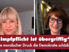 """""""Impfpflicht ist übergriffig"""" - Punkt.PRERADOVIC mit Prof. Dr. Ulrike Guérot; Bild: Startbild Youtubevideo Punkt.PRERADOVIC"""