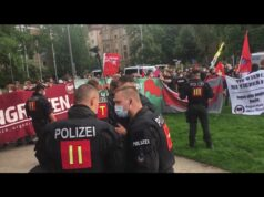 Antifa Terror gegen AfD Veranstaltung - Wer sind hier die Faschisten?; Bild: Startbild Youtubevideo MSR Aufklärung